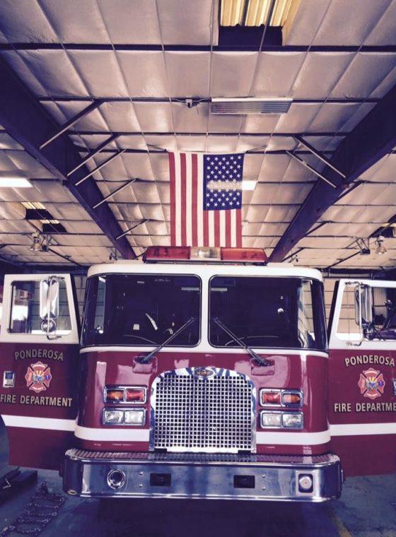 Front of Ponderosa Fire Department truck