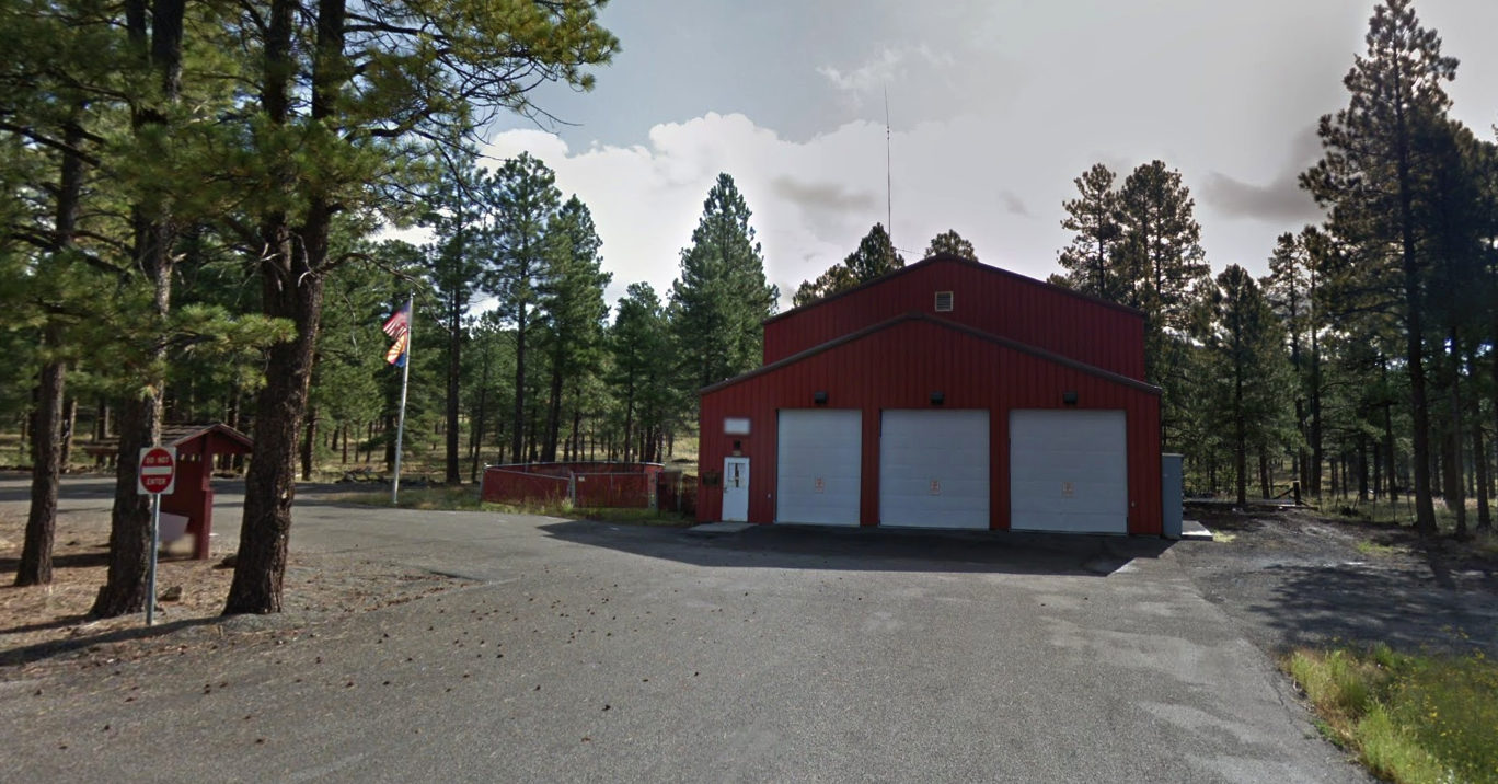 Outside of the fire station
